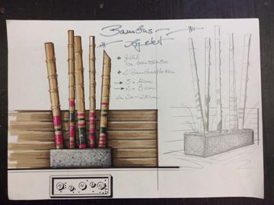 Entwurf Bambus-Objekt